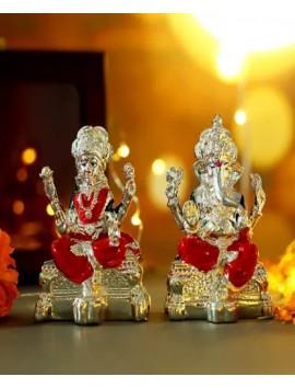 silver-plated-colorful-laxmi-ganesha