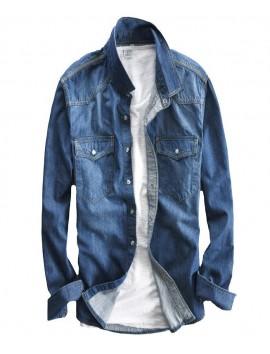 Gradient-Blue-Jeans-denim-shirt-men