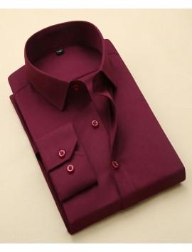 Mens-Business-Formal-Shirt-Plain